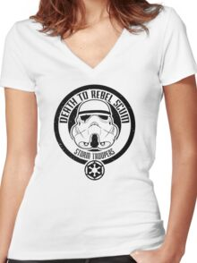 Death to Rebel Scum Women's Fitted V-Neck T-Shirt