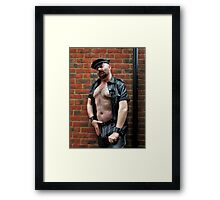 Troy- Leathered Up for You Men Framed Print