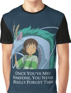 Spirited Away Chihiro and Haku-Studio Ghibli Graphic T-Shirt