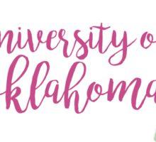 University of Oklahoma Watercolor Floral Wreath Sticker