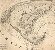 Vintage Map of Provincetown (1836) by BravuraMedia