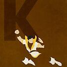 Karate Kid - Superhero Minimalist Alphabet Print Art by justicedefender
