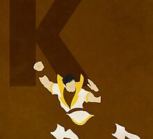 Karate Kid - Superhero Minimalist Alphabet Print Art by justicedefender