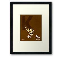 Karate Kid - Superhero Minimalist Alphabet Print Art Framed Print