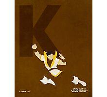 Karate Kid - Superhero Minimalist Alphabet Print Art Photographic Print