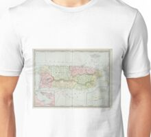 Vintage Map of Puerto Rico (1901) Unisex T-Shirt