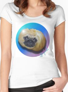 PUG DUMPLING  Women's Fitted Scoop T-Shirt