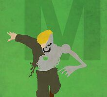 Metallo - Superhero Minimalist Alphabet Print Art by justicedefender
