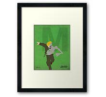 Metallo - Superhero Minimalist Alphabet Print Art Framed Print