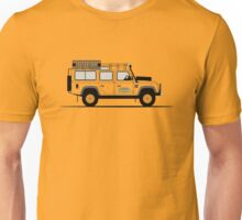 A Graphical Interpretation of the Defender 110 Station Wagon Camel Trophy Unisex T-Shirt