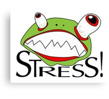 Stress - cartoon Canvas Print