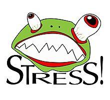Stress - cartoon Photographic Print