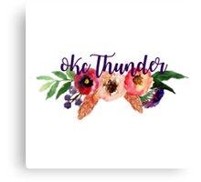 Floral Oklahoma City Thunder Canvas Print