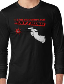 I Can Accomplish Anything - Black & Red Long Sleeve T-Shirt