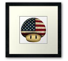 USA Mario's mushroom Framed Print