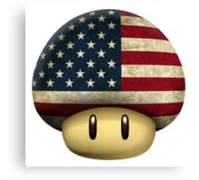 USA Mario's mushroom Canvas Print