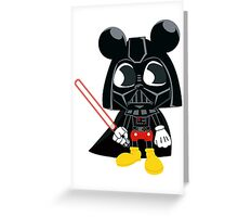 Darth Mickey Greeting Card