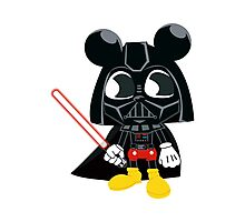 Darth Mickey Photographic Print