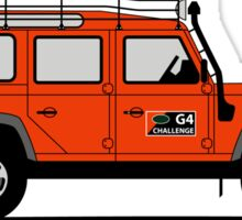 A Graphical Interpretation of the Defender 110 Station Wagon G4 Challenge Sticker