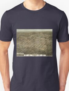 Vintage Pictorial Map of Raleigh NC (1872) Unisex T-Shirt