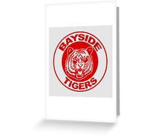Saved by the bell: Bayside Tigers Greeting Card