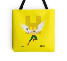 Hawkman - Superhero Minimalist Alphabet Clothing Tote Bag