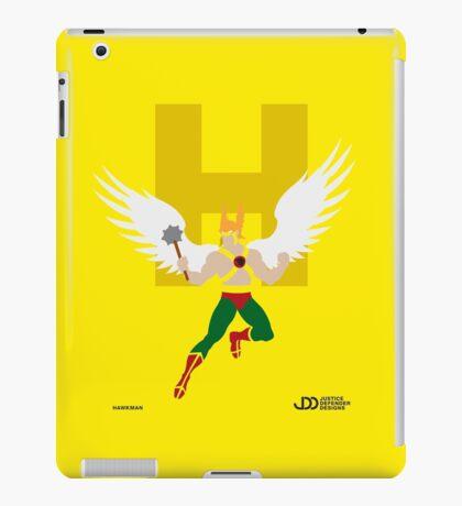 Hawkman - Superhero Minimalist Alphabet Clothing iPad Case/Skin