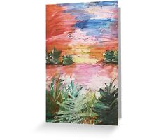 Oil Pastel Painting Greeting Card