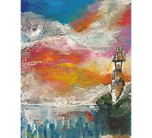 Oil Pastel Lighthouse Photographic Print