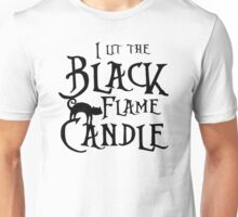 Black Flame Candle Unisex T-Shirt