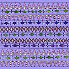 Lavender Geo Pattern by sandra arduini