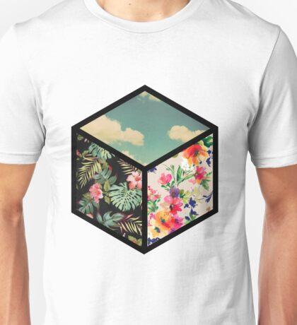 Floral Vintage Cube Unisex T-Shirt
