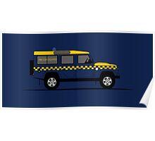 A Graphical Interpretation of the Defender 110 Station Wagon HM Coastguard Poster