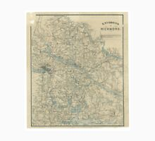 Vintage Map of The Richmond Virginia Area (1864) T-Shirt