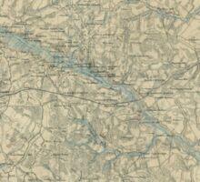 Vintage Map of The Richmond Virginia Area (1864) Sticker