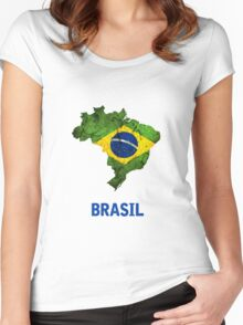 The Brasil Flag Women's Fitted Scoop T-Shirt