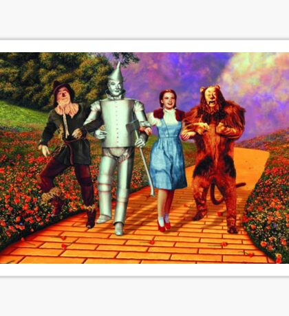 Down the Yellow Brick Road Sticker
