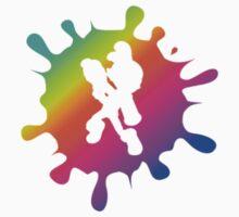 Splatoon Inkling Boy Rainbow Baby Tee