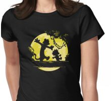 calvin & hobbes on the moon Womens Fitted T-Shirt