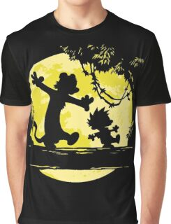 calvin & hobbes on the moon Graphic T-Shirt