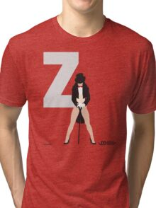 Zatanna - Superhero Minimalist Alphabet Clothing Tri-blend T-Shirt