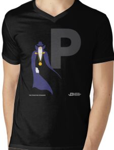 The Phantom Stranger - Superhero Minimalist Alphabet Clothing Mens V-Neck T-Shirt