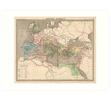 Vintage Map of The Roman Empire (1838) Art Print