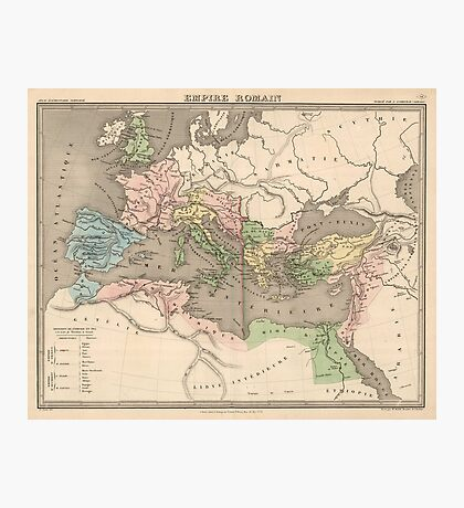 Vintage Map of The Roman Empire (1838) Photographic Print