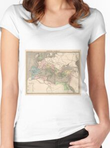 Vintage Map of The Roman Empire (1838) Women's Fitted Scoop T-Shirt