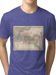 Vintage Map of The Roman Empire (1838) Tri-blend T-Shirt