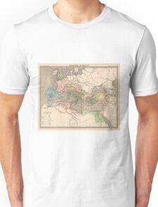 Vintage Map of The Roman Empire (1838) Unisex T-Shirt