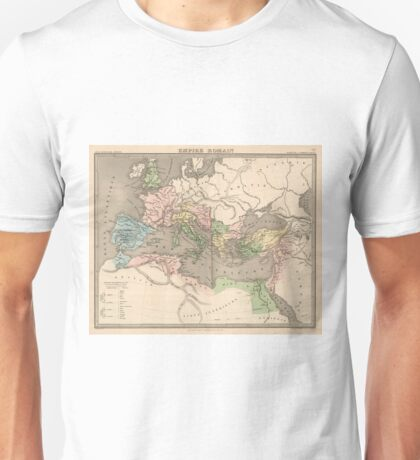 Vintage Map of The Roman Empire (1838) Unisex T-Shirt