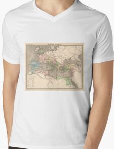 Vintage Map of The Roman Empire (1838) Mens V-Neck T-Shirt