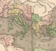 Vintage Map of The Roman Empire (1838) Sticker